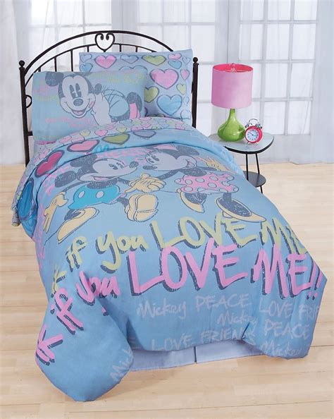 Mickey And Minnie Bedding Set by Mickey And Minnie Mouse Bed Sheet Set Disney Vintage
