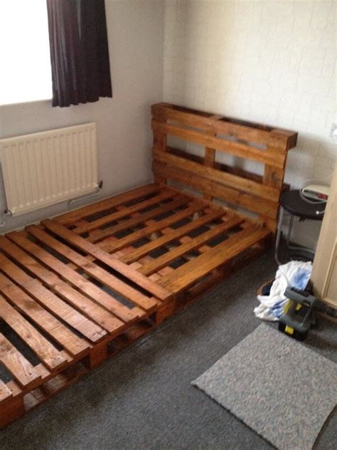 wooden pallet bed frame 15 amazing bed frame ideas with old wood pallets pallets