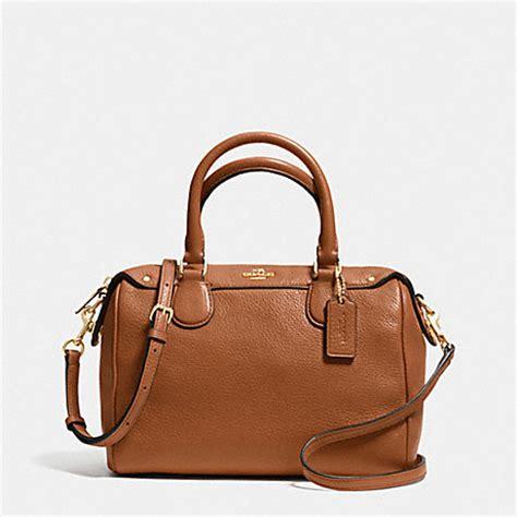 Coach F57521 Crossgrain Mini Bennet Satchel Saddle mini satchel in pebble leather f36677