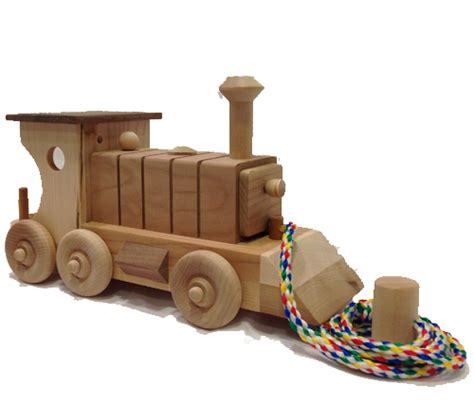 Three Small Trains Wood Toys classic engine large wooden