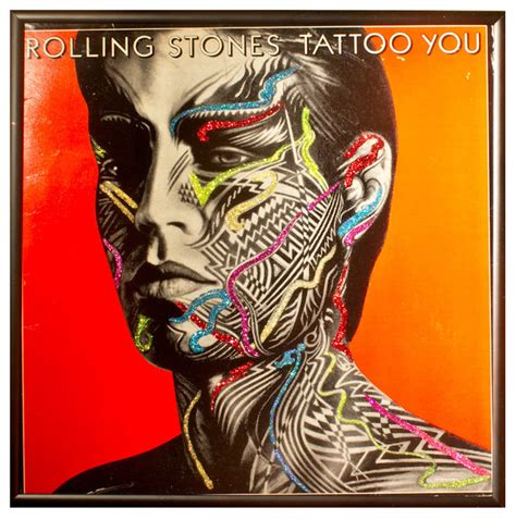 tattoo you album glittered rolling stones you album eclectic
