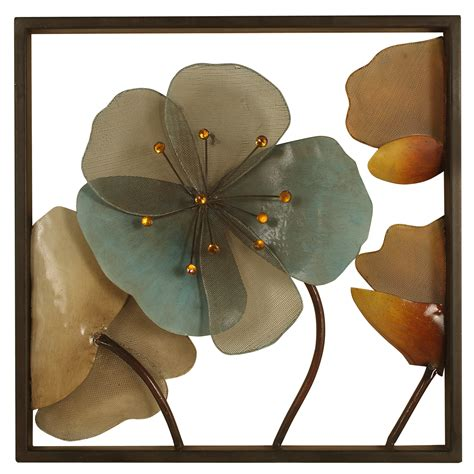2623 metal framed wall d 233 cor with acrylic flowers