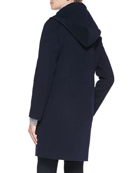 Hooded Button Coat vince hooded button coat