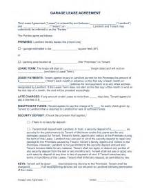lease agreement template pdf free garage parking rental lease agreement template