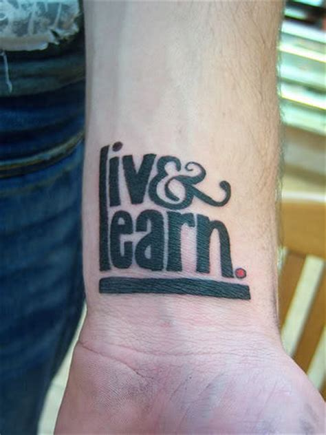 live wrist tattoo live learn