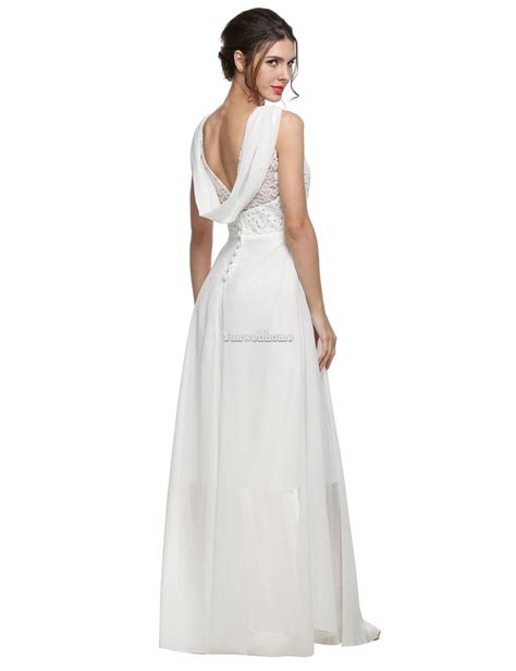 Dress Import Wj734 Xl 1 new white ivory backless mermaid lace chiffon wedding