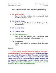 Model Essay Exle by Model For A One Paragraph Essay By Hxi76773 Homeschool Writing