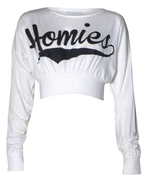 Sweater Homies South Central 2 Exclusive Hitam 1 forever womens homies slogan varsity print sleeves crop top at s clothing store