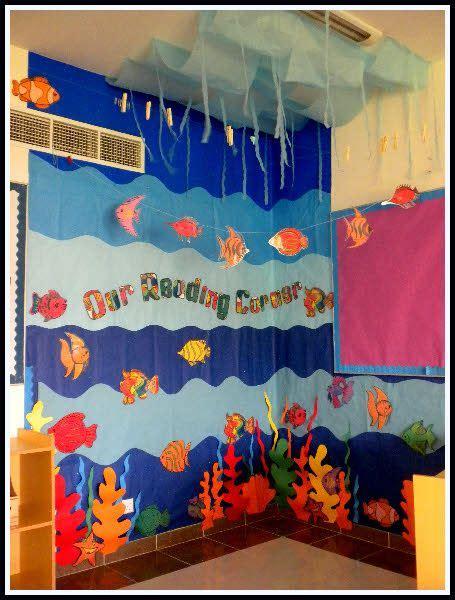 book themes ks2 under the sea reading corner classroom display photo