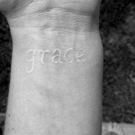 grace wrist tattoo 50 best white ink tattoos