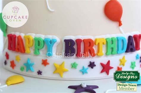 Kubis Fondant By Cetakan Jelly cetakan silikon fondant happy birthday cetakan jelly
