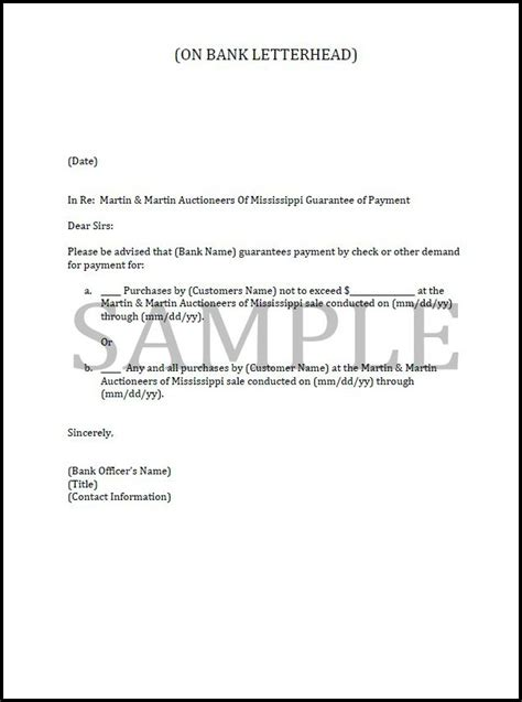 Bank Letter Of Credit For Auction Sle Letter Of Gaurantee Studio Design Gallery Best Design