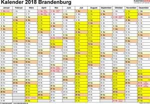 Kalender 2018 Feiertage Und Ferien Brandenburg Ferien Brandenburg 2018 220 Bersicht Der Ferientermine