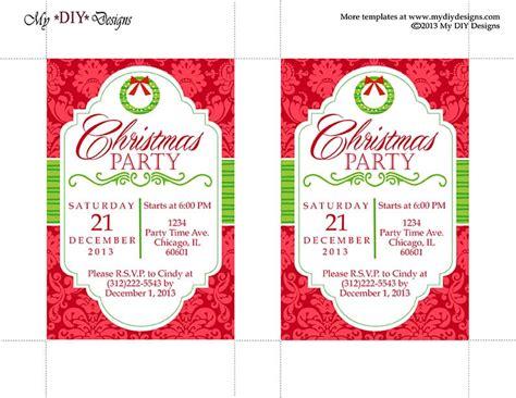 christmas invite template microsoft word invitation template