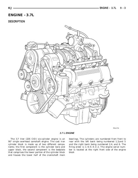 2005 Jeep Liberty Engine Diagram Jeep Liberty 2002 2005 Engine 3 7 L