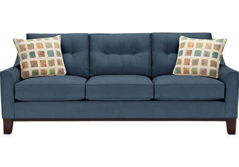 cindy crawford blue sofa cindy crawford home montclair indigo sofa sofas blue