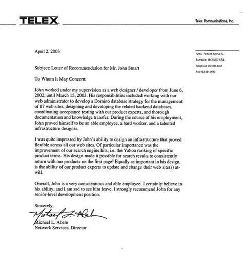 reference letter leaving letter of employment for