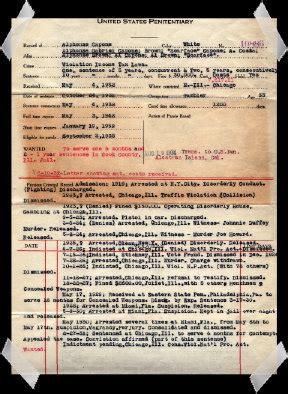 Al Capone Criminal Record Al Capone 85 Az