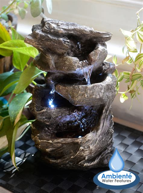 hcm hayal  tier cascading tabletop water feature