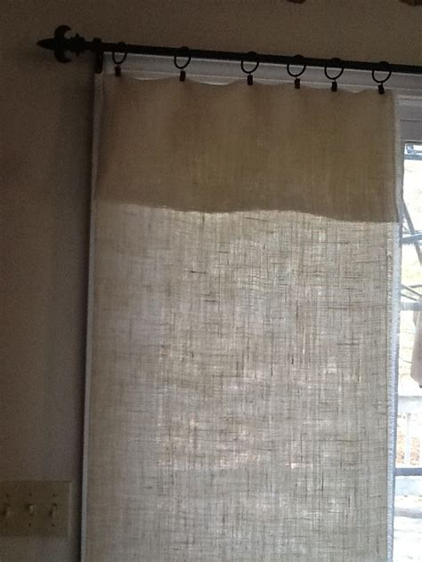 no sew burlap curtains our crafty