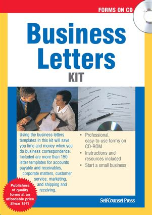 instant business letter kit business letters kit independent publishers
