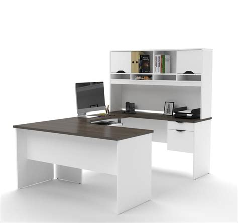 White U Shaped Desk Modern White Antigua U Shaped Office Desk With Hutch Officedesk