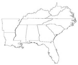 South East Usa Map by Southeastern Us Map Blank Www Proteckmachinery Com