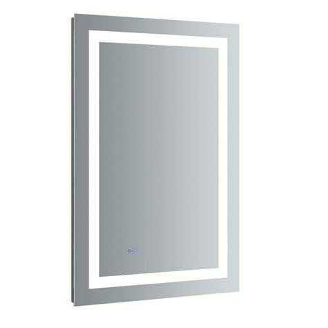 24 X 42 Frameless Mirror by Fresca Santo 24 In W X 36 In H Frameless Single Bathroom