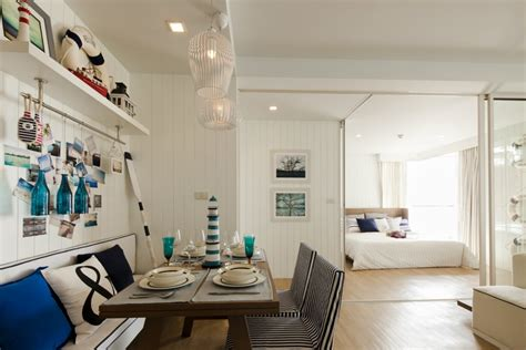 home design beach theme blue white nautical dining room interior design ideas