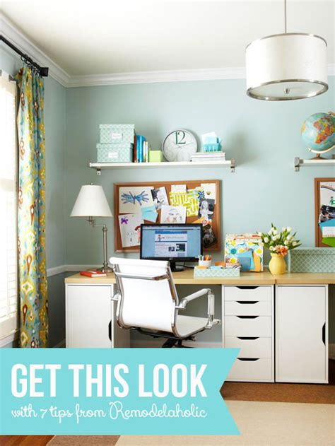 home office looks remodelaholic get this look easy home office with wall