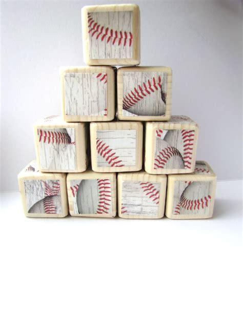 Baseball Nursery Decor by Wood Blocks Baseball Sports Theme Nursery Decor Baby Shower Decora