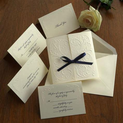 custom wedding invitations thermography blind embossed wedding invitation set raised