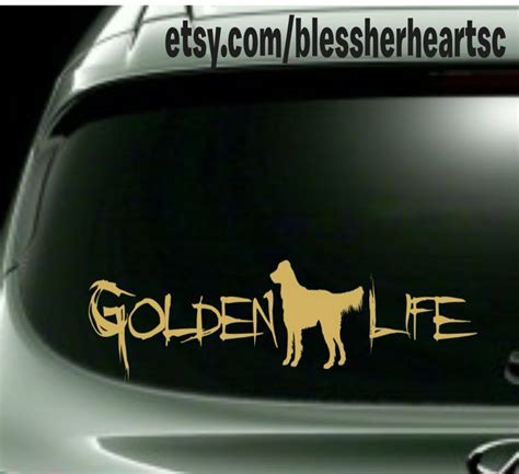 golden retriever car decals 17 best images about goldens golden gifts on pets lover gifts and