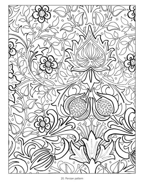 William Morris Coloring Book William Morris Colouring Pages