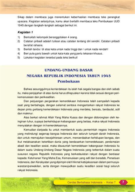 teks doa pada upacara bendera slide bahasa indonesia kelas 7 smp mts