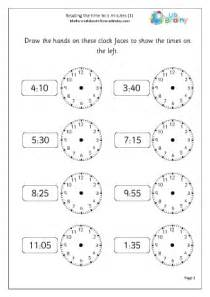 read the time to 5 minutes 1 maths worksheet images frompo