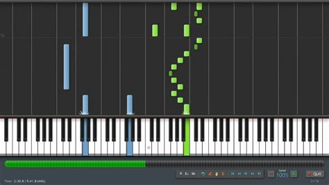 tutorial piano synthesia pachelbel canon in d piano tutorial synthesia sheet
