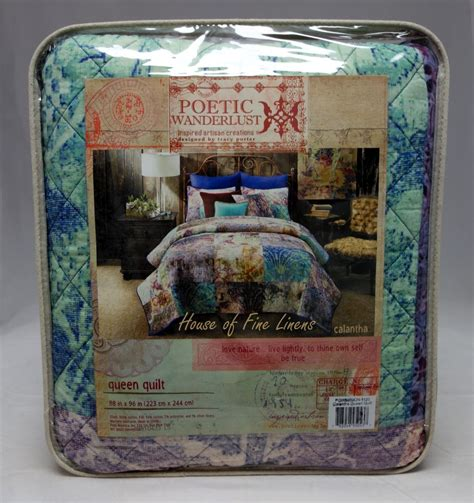 Poetic Wanderlust Quilt by Tracy Porter Poetic Wanderlust Calantha Reversible