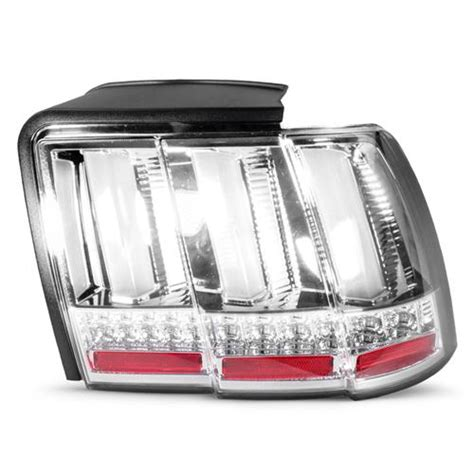 99 04 mustang sequential tail light kit mustang sequential s550 style tail lights chrome 99 04