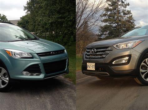 compare ford escape to hyundai santa fe compare hyundai santa fe to ford escape