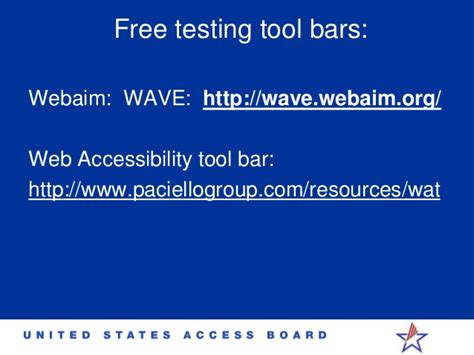 section 508 compliance testing tools section 508 accessibility idrac 2014 timothy creagon