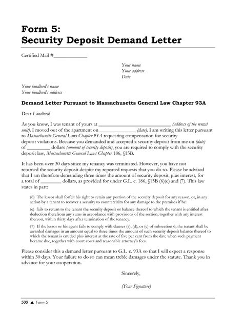 Demand Letter Return Of Security Deposit Best Photos Of Deposit Demand Letter Exle Security Deposit Demand Letter Sle Landlord