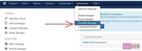 how to edit a template in joomla 3 x 10 steps with
