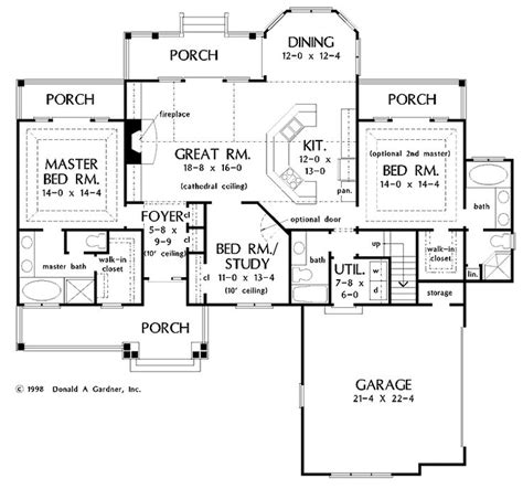 2 Master Suites House Plans Pinterest Ranch House Plans With Two Master Suites