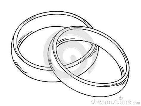 Eheringe Gezeichnet by Twee Ringen Vector Illustratie Afbeelding 39122168