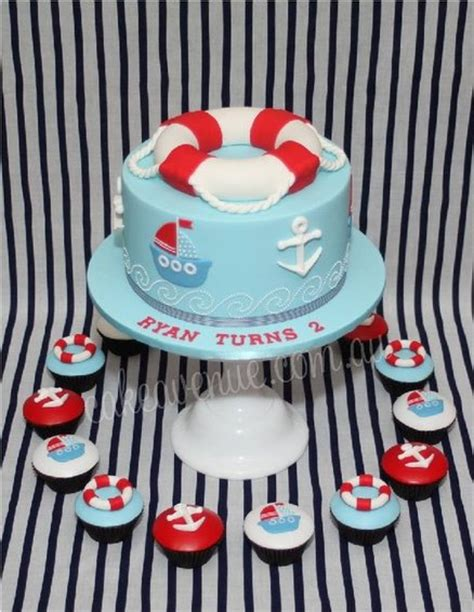 themed cake decorations nautical baby shower theme ideas jareceqyk