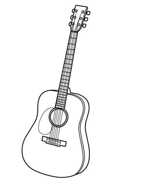 acoustic guitar coloring page 84 coloring pages guitar music instruments coloring