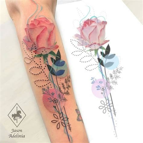 flores tattoo with gems ink tatuajes