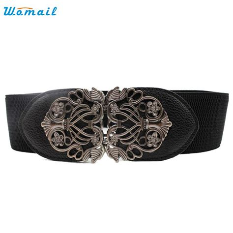 Repeat Trend Wide Belts amazing new alloy flower vintage belt for wide