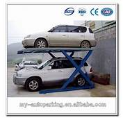 2 Level Double Car Parking Lift Portable Hydraulic